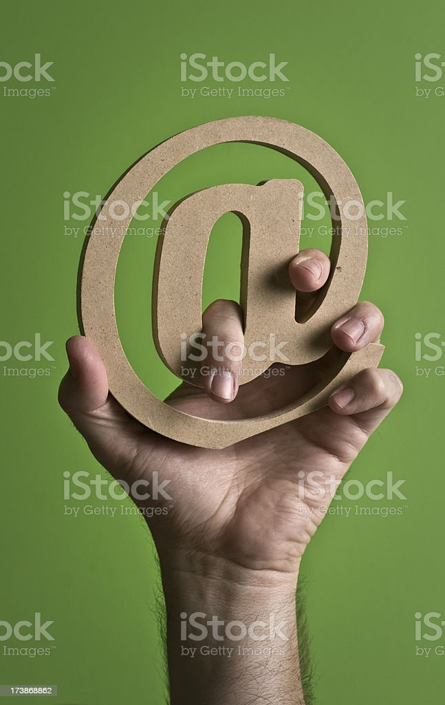 holding to your organic email stock photo
