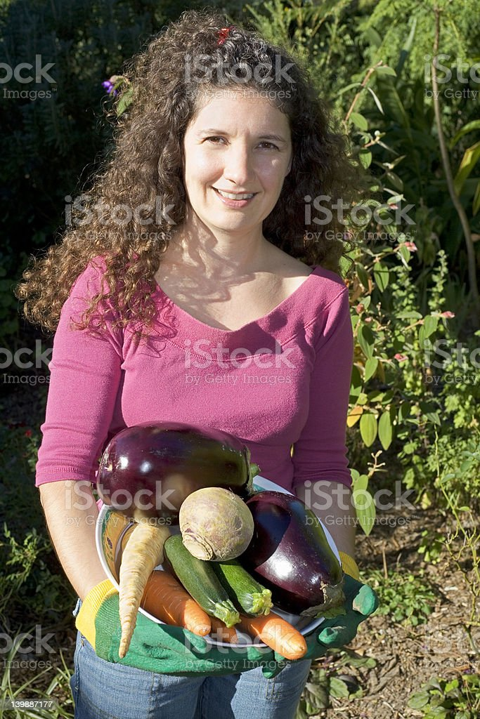 Holding vegetables royalty-free stock photo