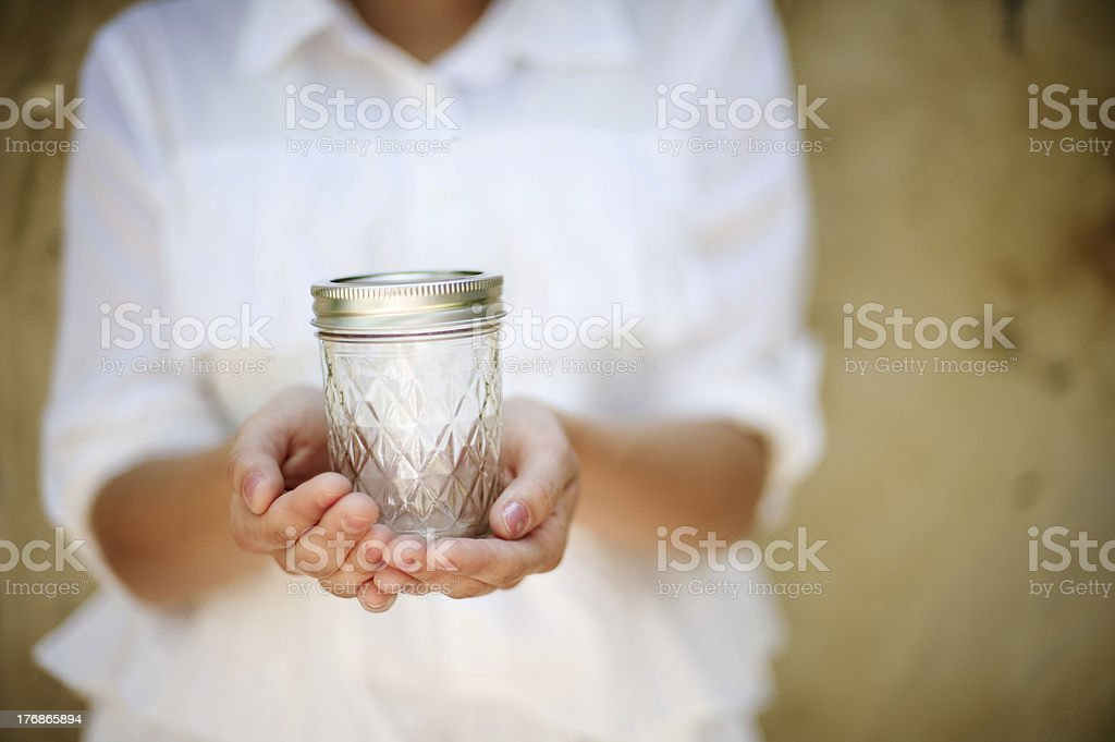 Holding What's Left royalty-free stock photo
