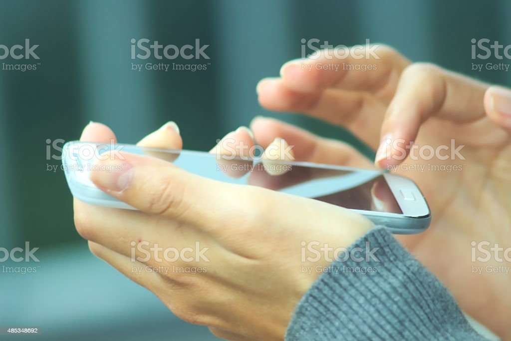 Holdning smart phone, touch screen stock photo