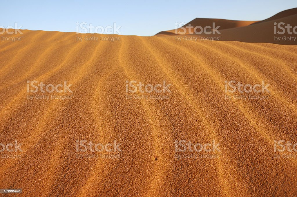 Hole in a dune stock photo