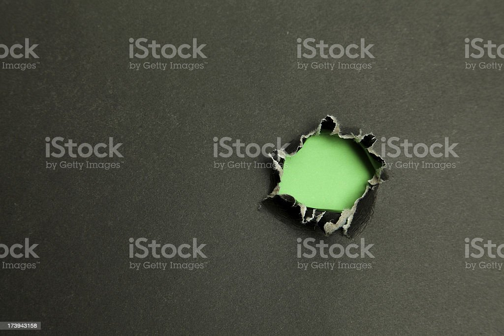 Hole In Black royalty-free stock photo