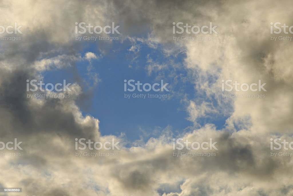 Hole in Clouds royalty-free stock photo