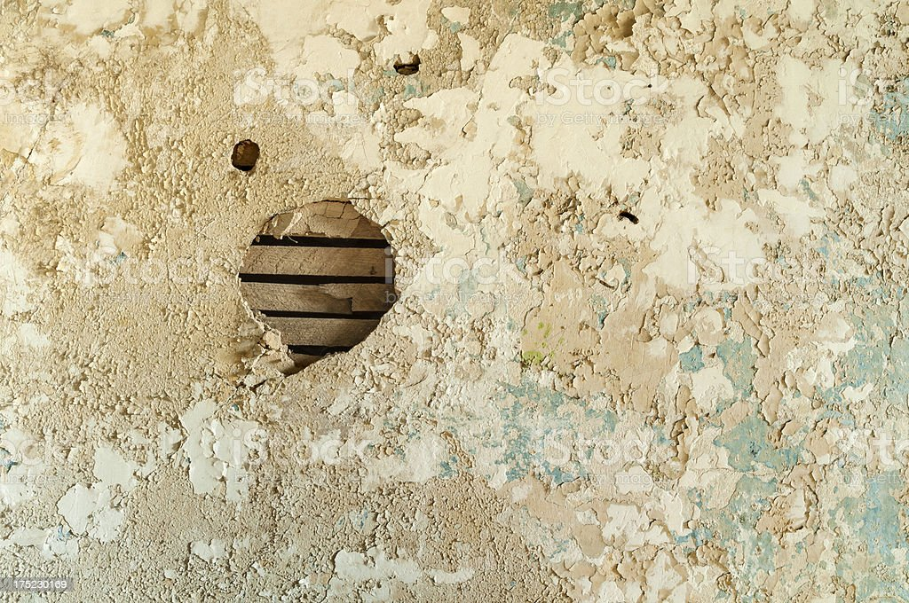 Hole in Grunge Wall royalty-free stock photo