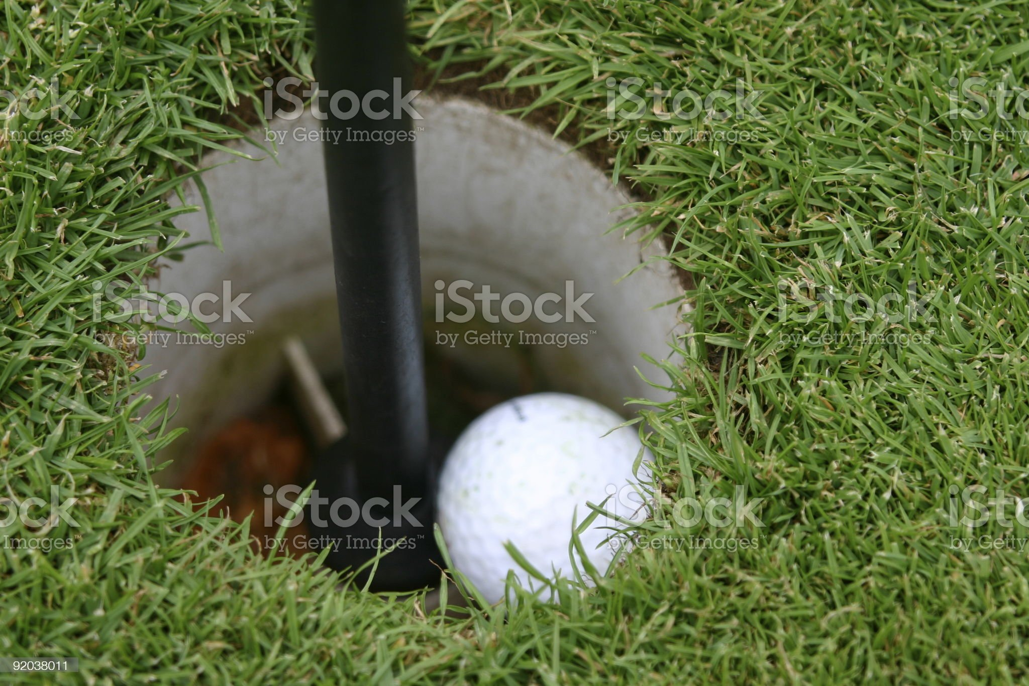 Hole in one royalty-free stock photo