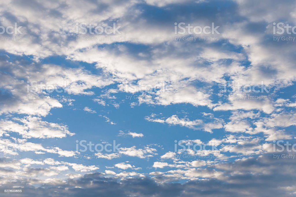 Hole in the clouds royalty-free stock photo