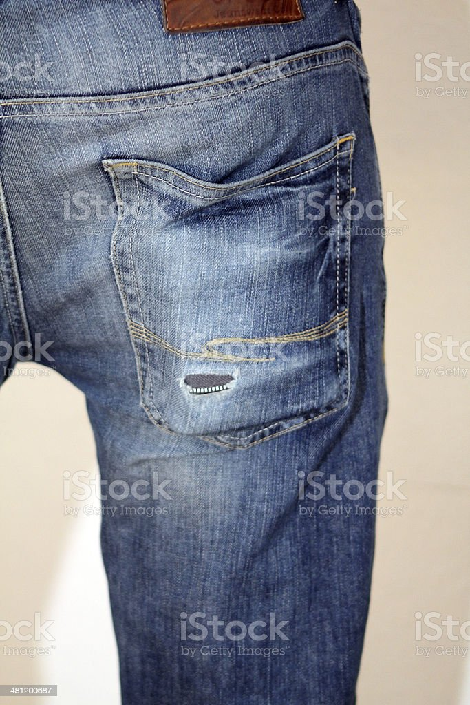 hole in the pocket stock photo