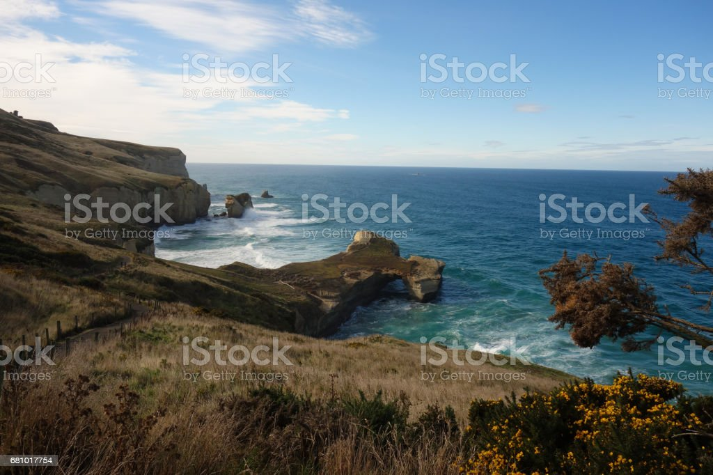Hole in the Rock, New Zealand stock photo
