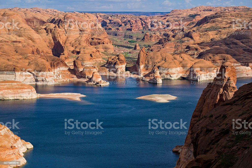 Hole in the Wall Lake Powell stock photo