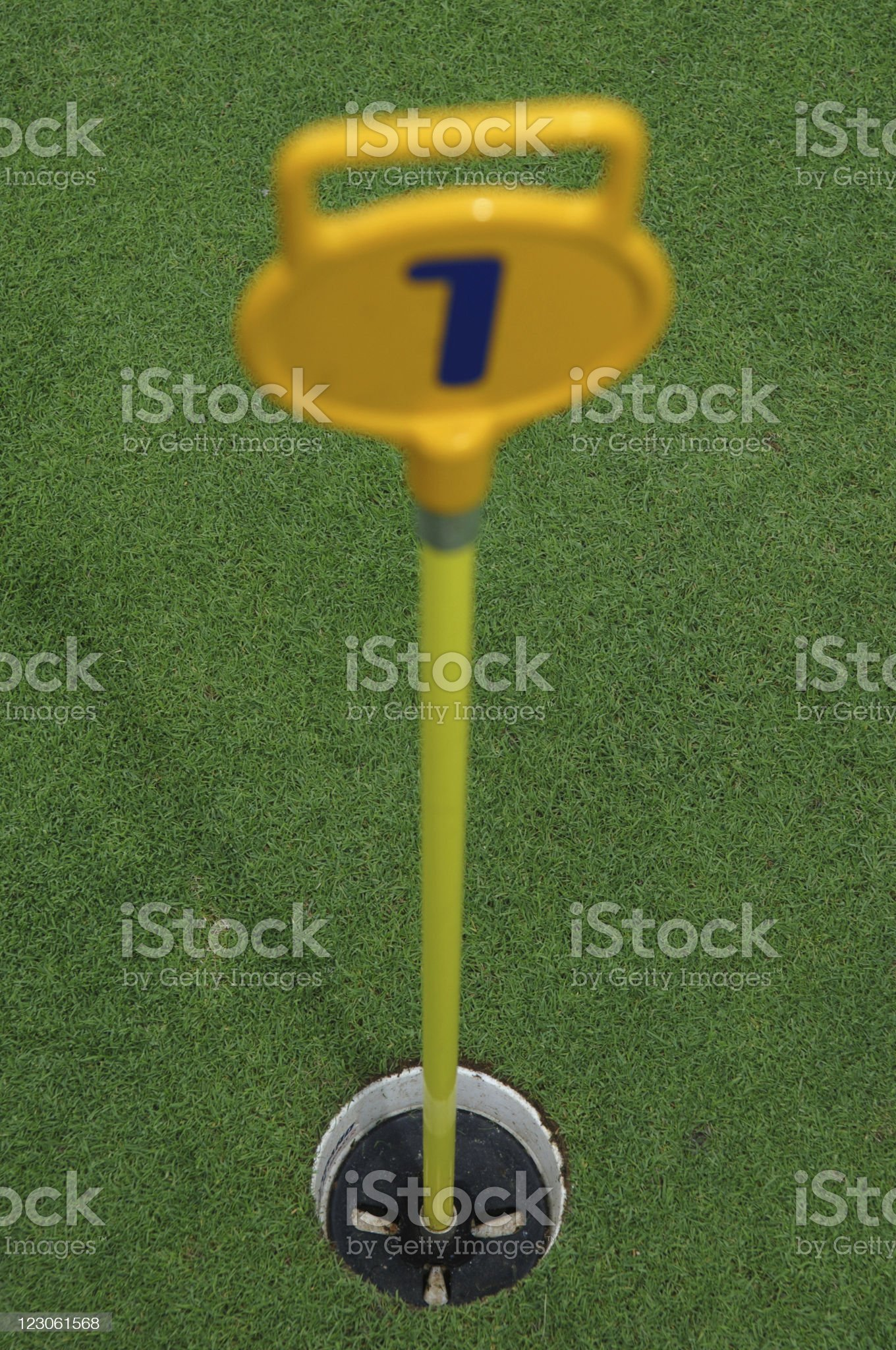 Hole No1 royalty-free stock photo