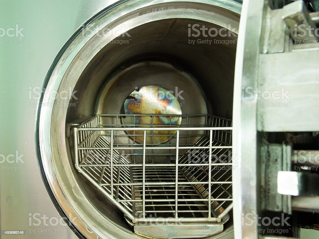 hole of autoclave stock photo
