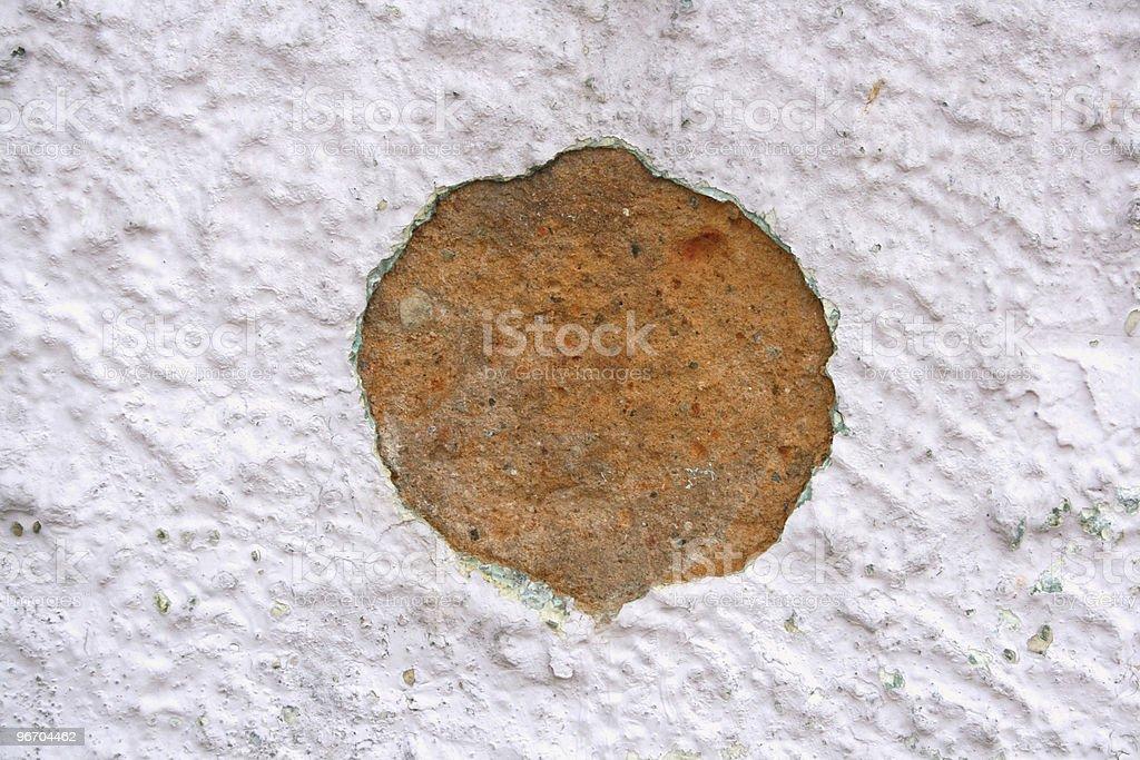 Hole on Wall royalty-free stock photo