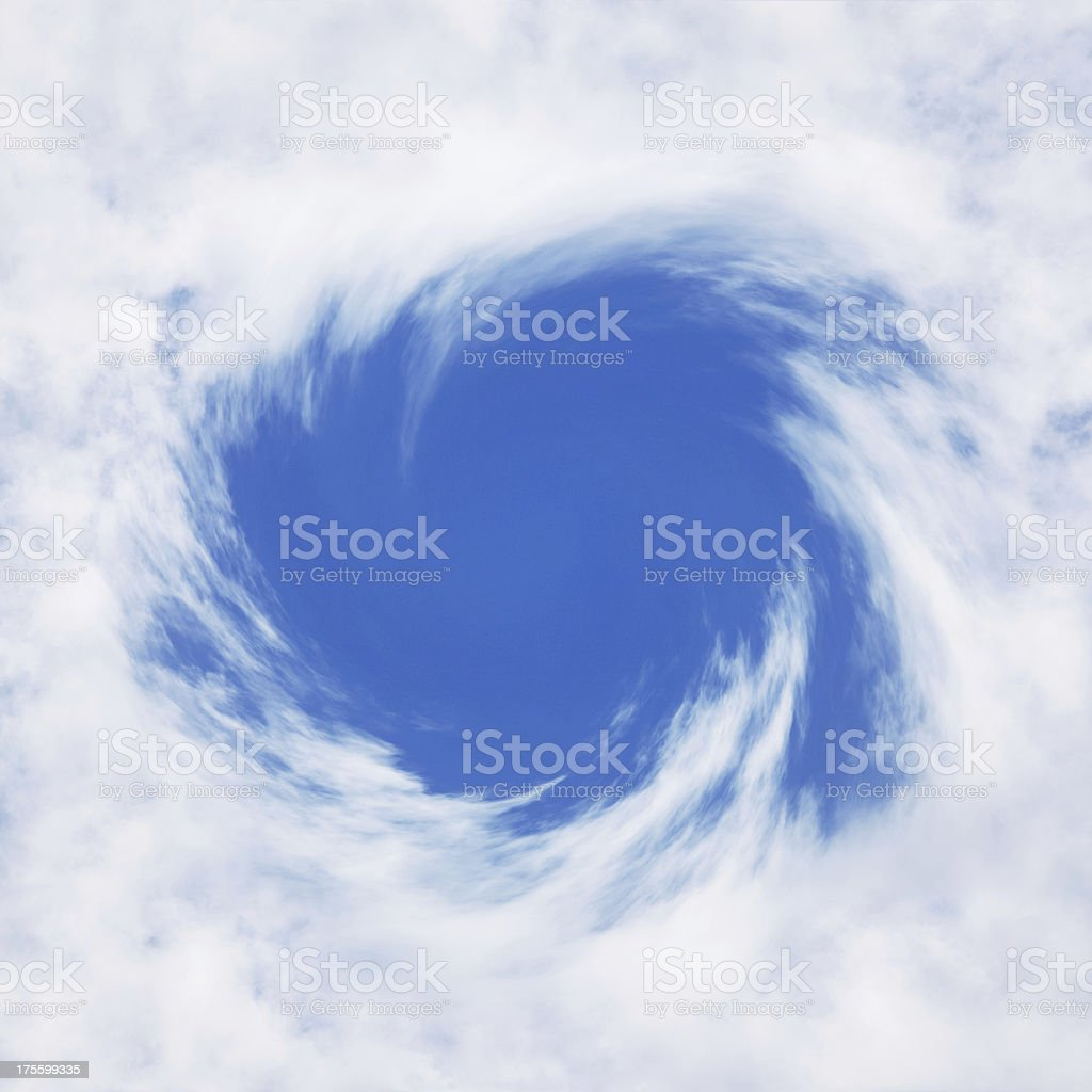 Hole Punch Cloud stock photo