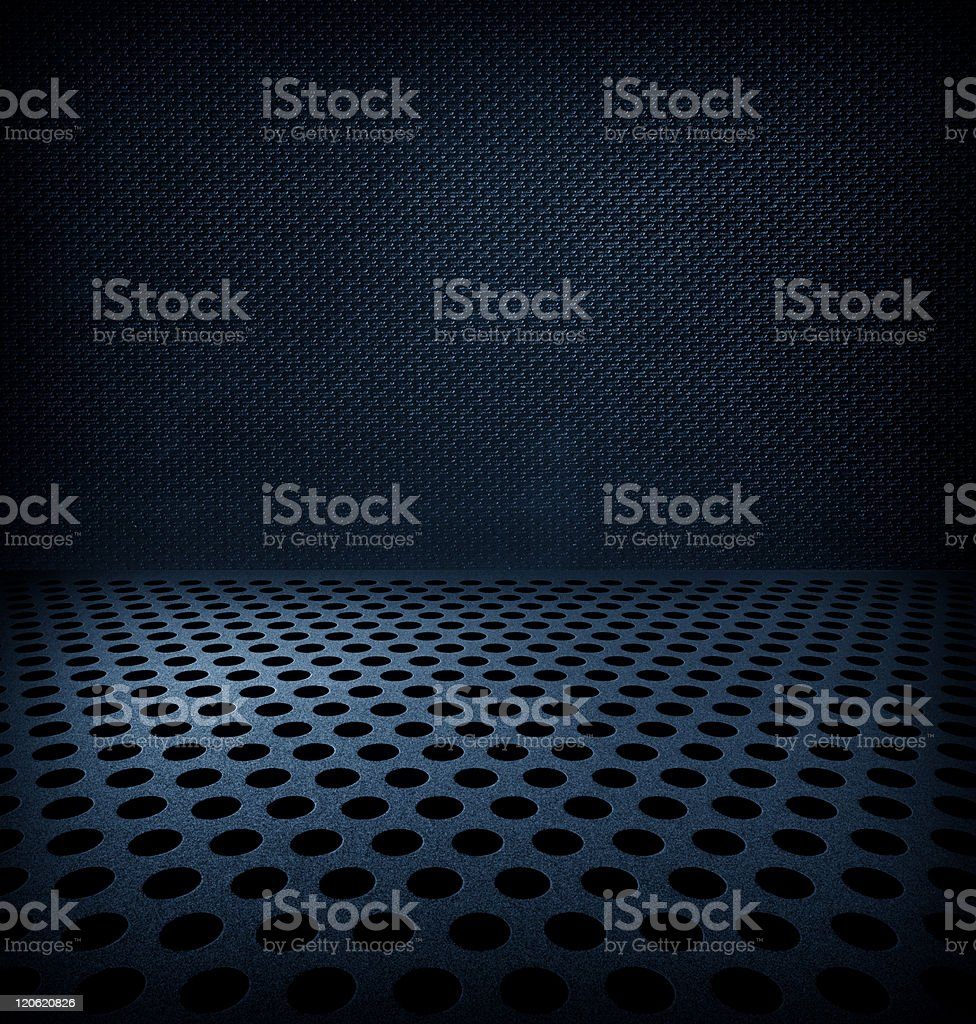 Hole punched metal background stock photo