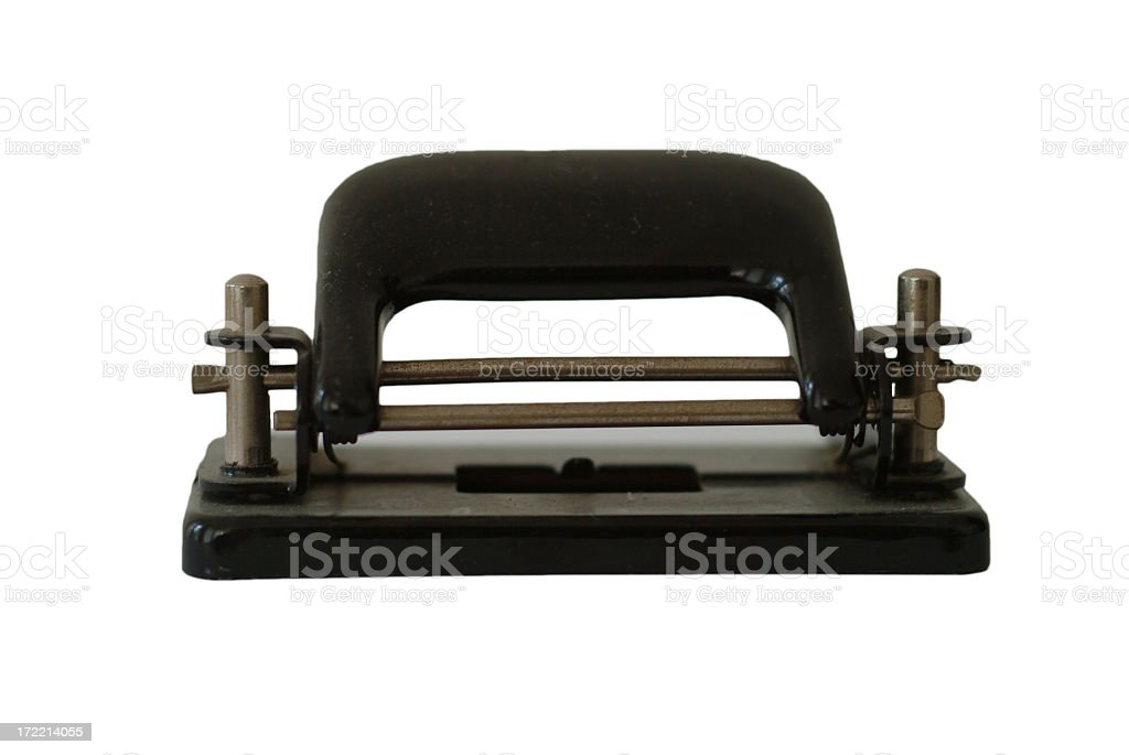 Hole puncher or perforator royalty-free stock photo