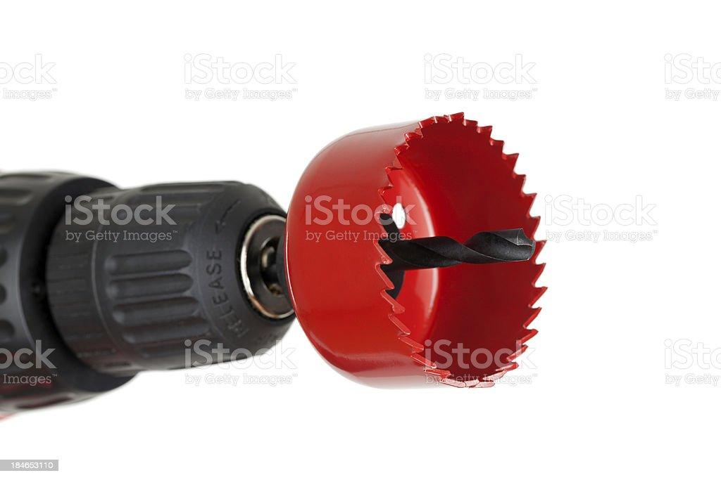 Hole Saw Drill Bit stock photo