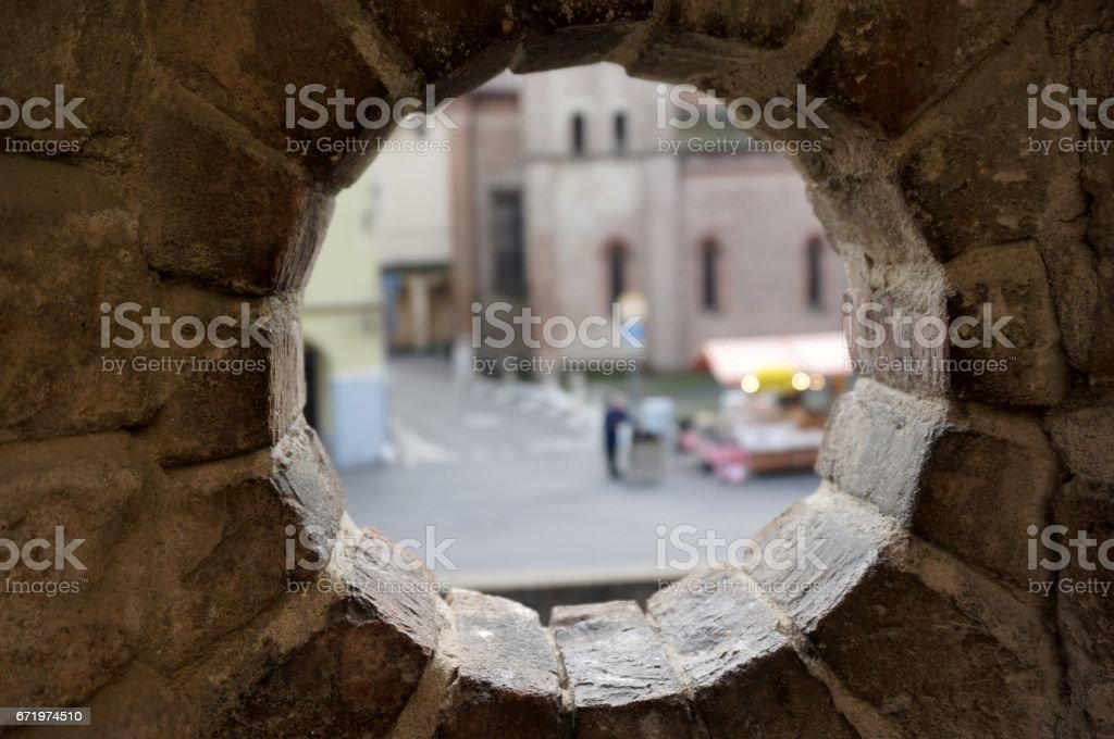 Hole view stock photo