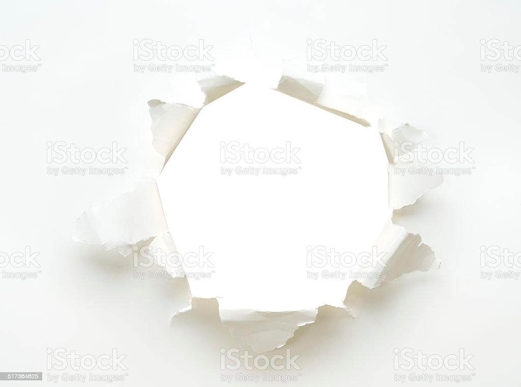 hole white empty paper poster stock photo