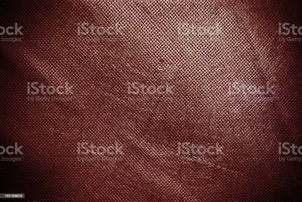 Holed and creased red canvas background or texture stock photo