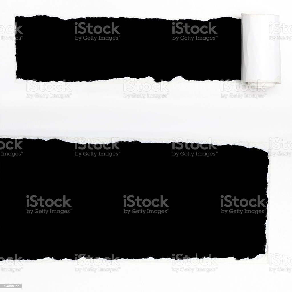 Holes in Paper stock photo