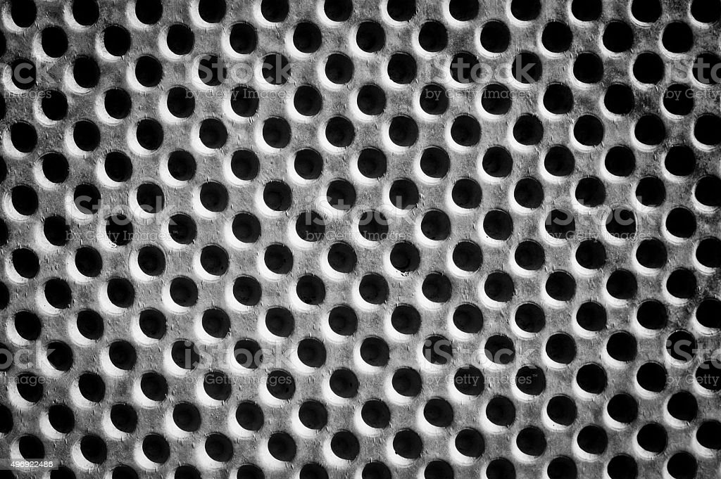 Holes in wall of cement / Concrete stock photo