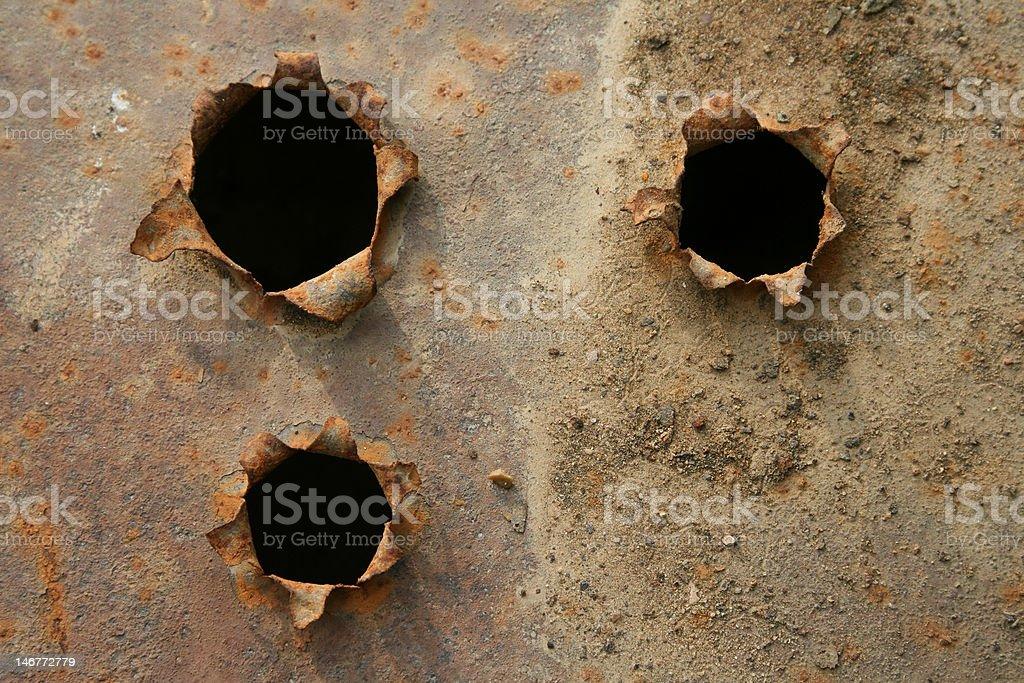 holes stock photo
