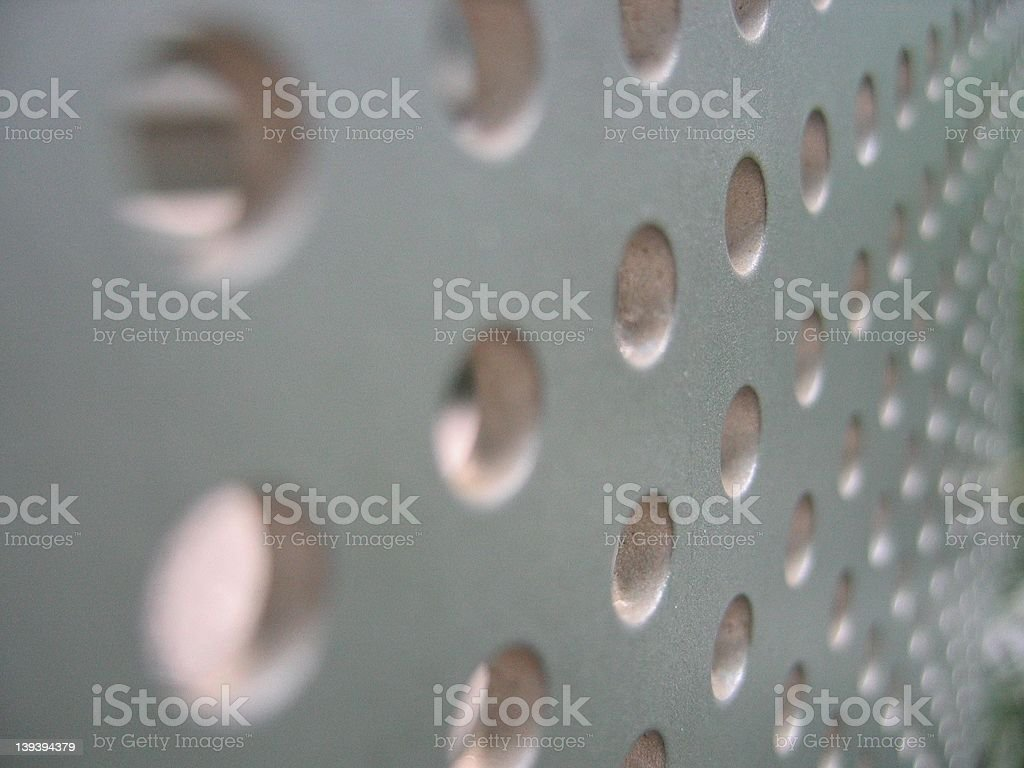 Holey Bannister stock photo