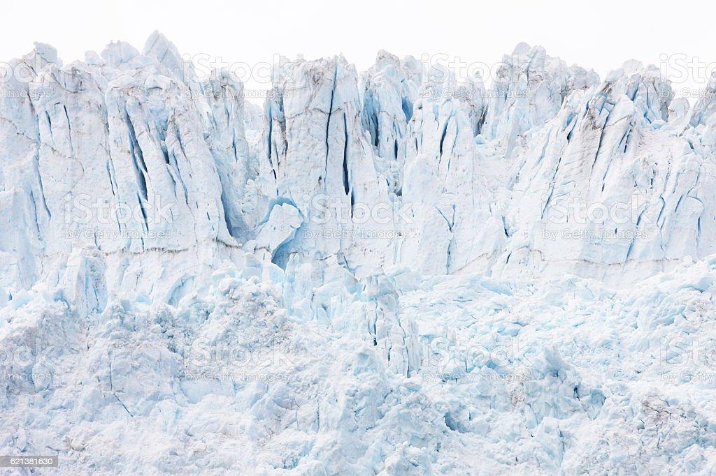 Holgate Glacier Crevasses Seracs Ice Snow stock photo