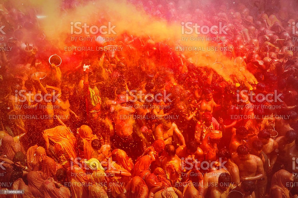Holi - Color of Festival in India stock photo