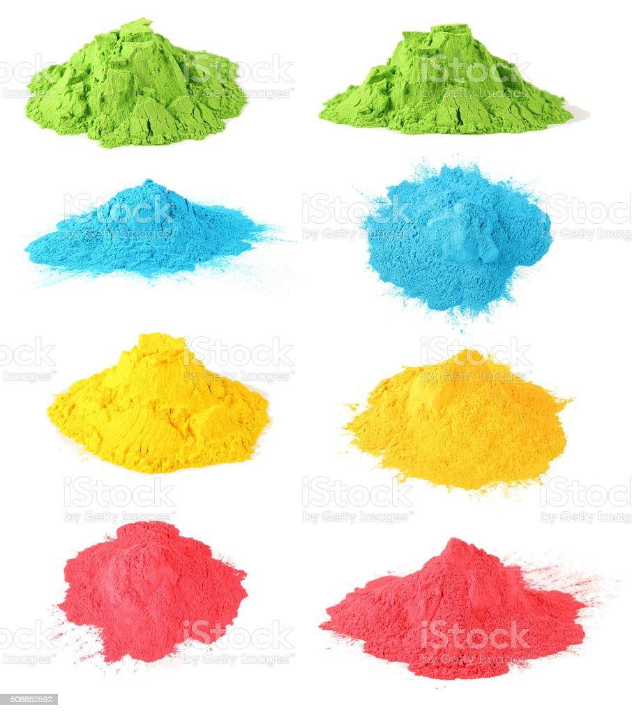 Holi color set stock photo