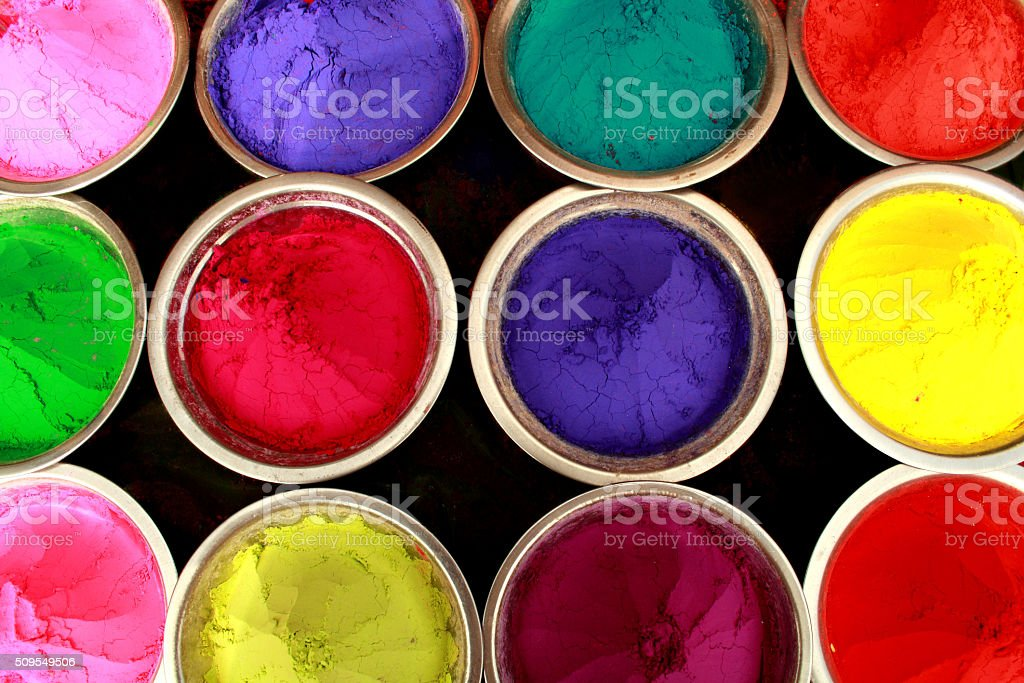 Holi colors stock photo