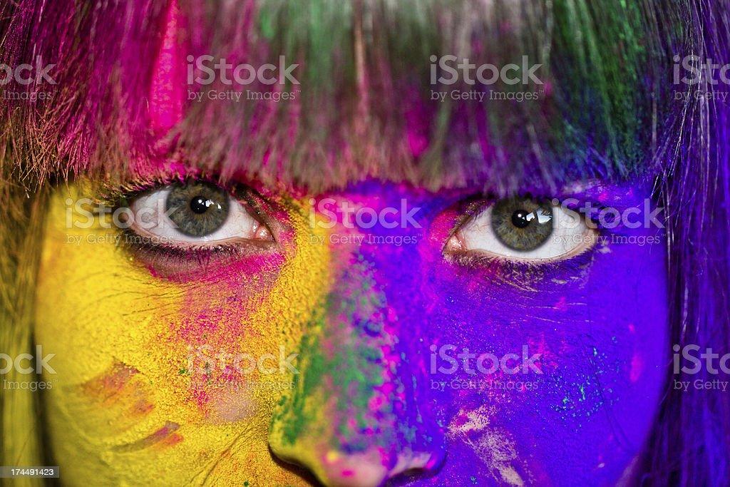 Holi Eyes stock photo