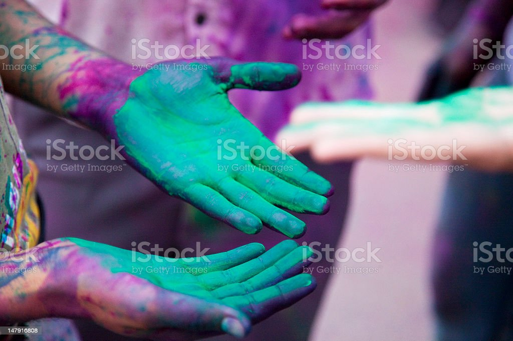 Holi festival in India royalty-free stock photo