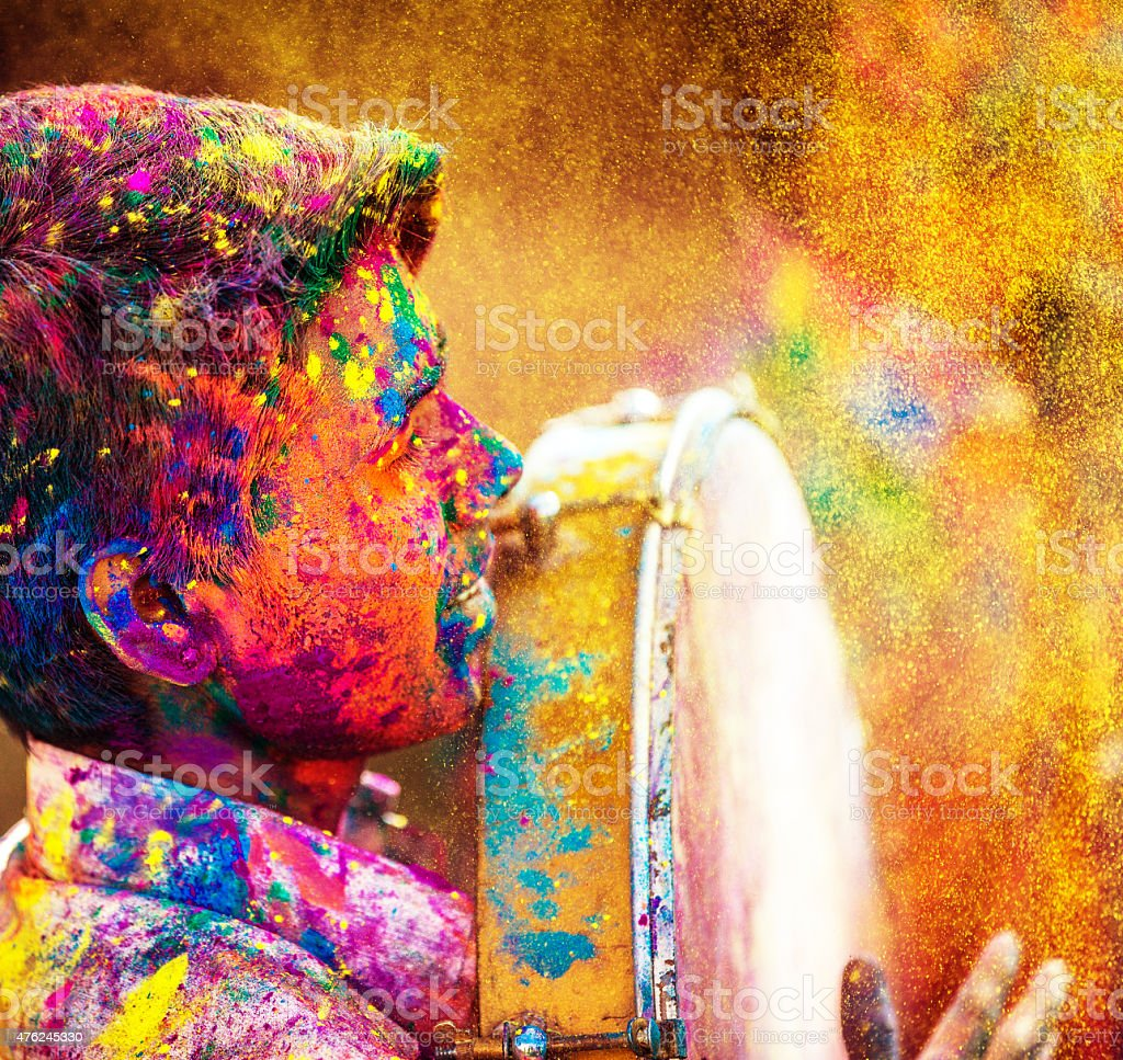 Holi Festival India stock photo