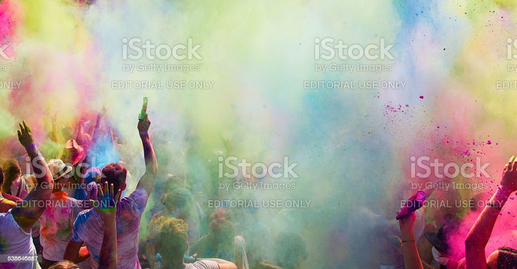Holi Festival of Colors stock photo