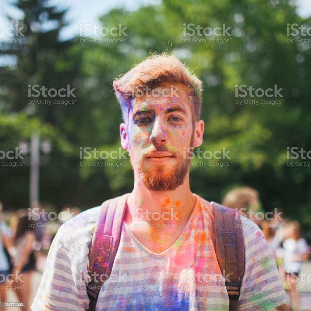 Holi Festival stock photo