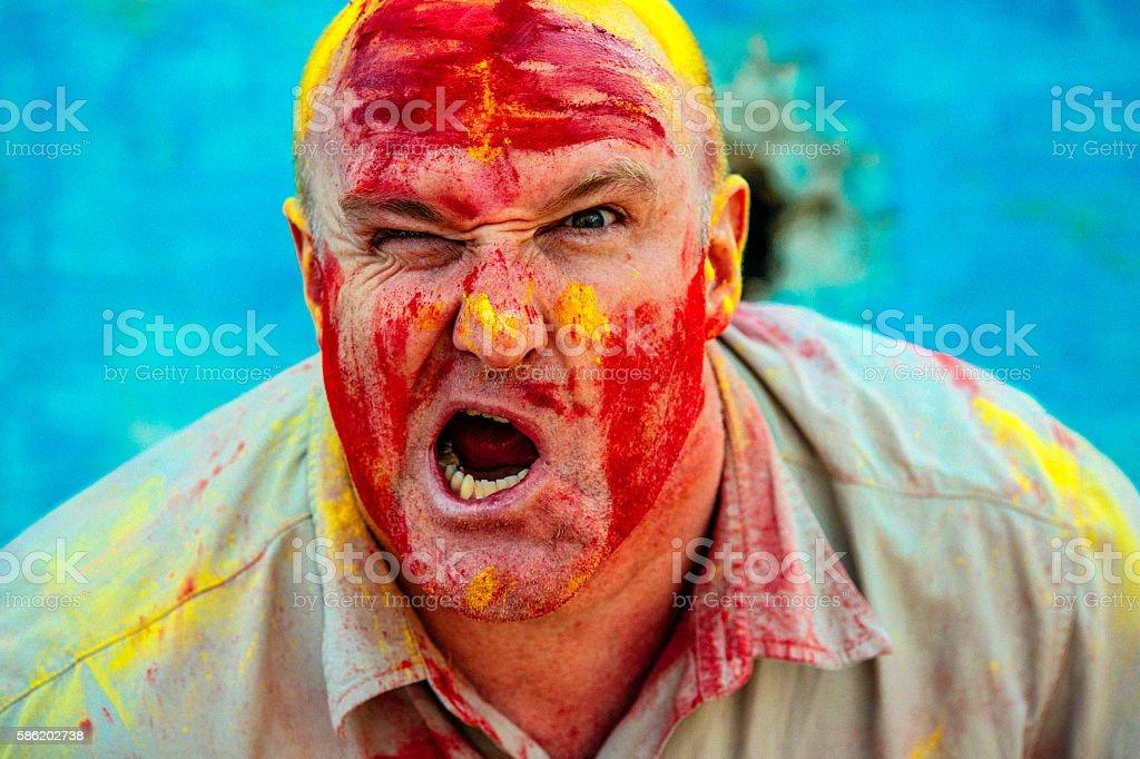 Holi Festival tourist stock photo