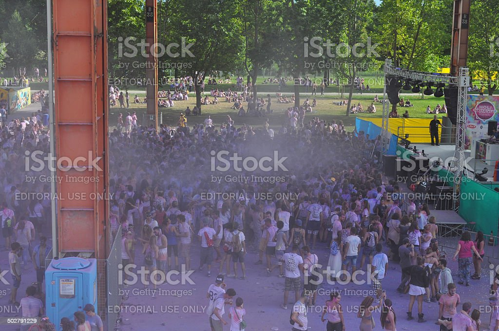 Holi Fusion fest in Turin royalty-free stock photo