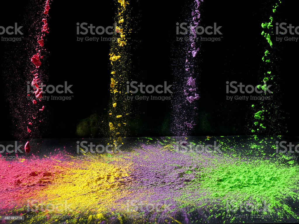 Holi paint stock photo