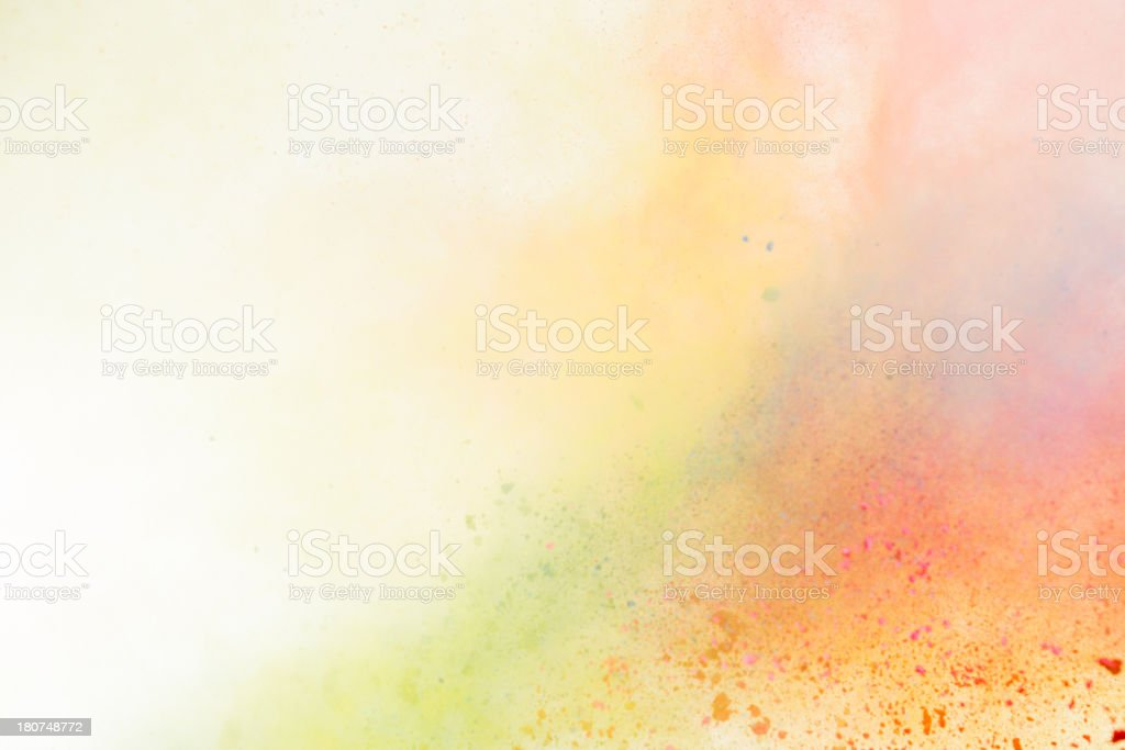 Holi Powder background stock photo