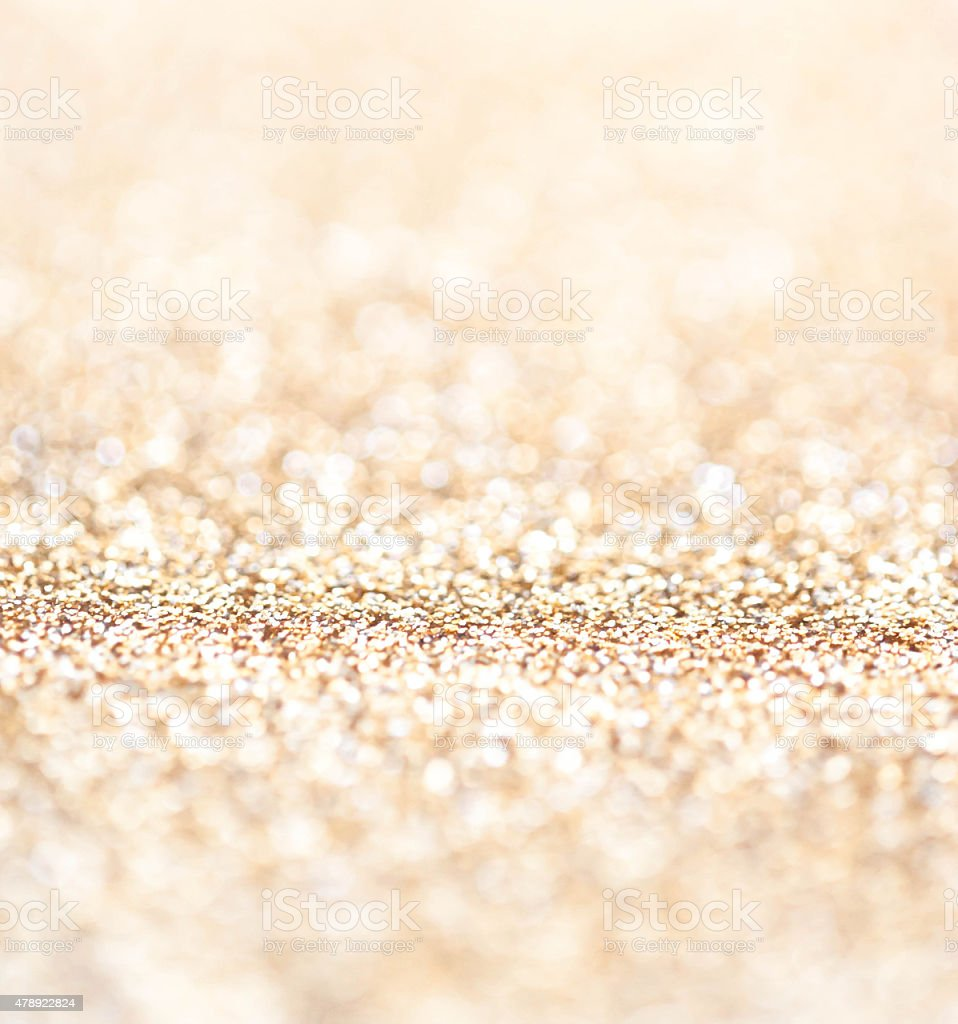 Holiday abstract glitter background with blinking lights and g stock photo