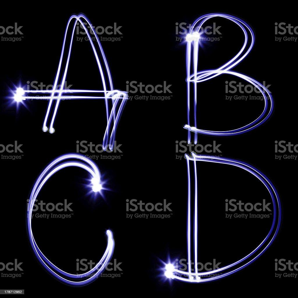 Holiday alphabet royalty-free stock photo