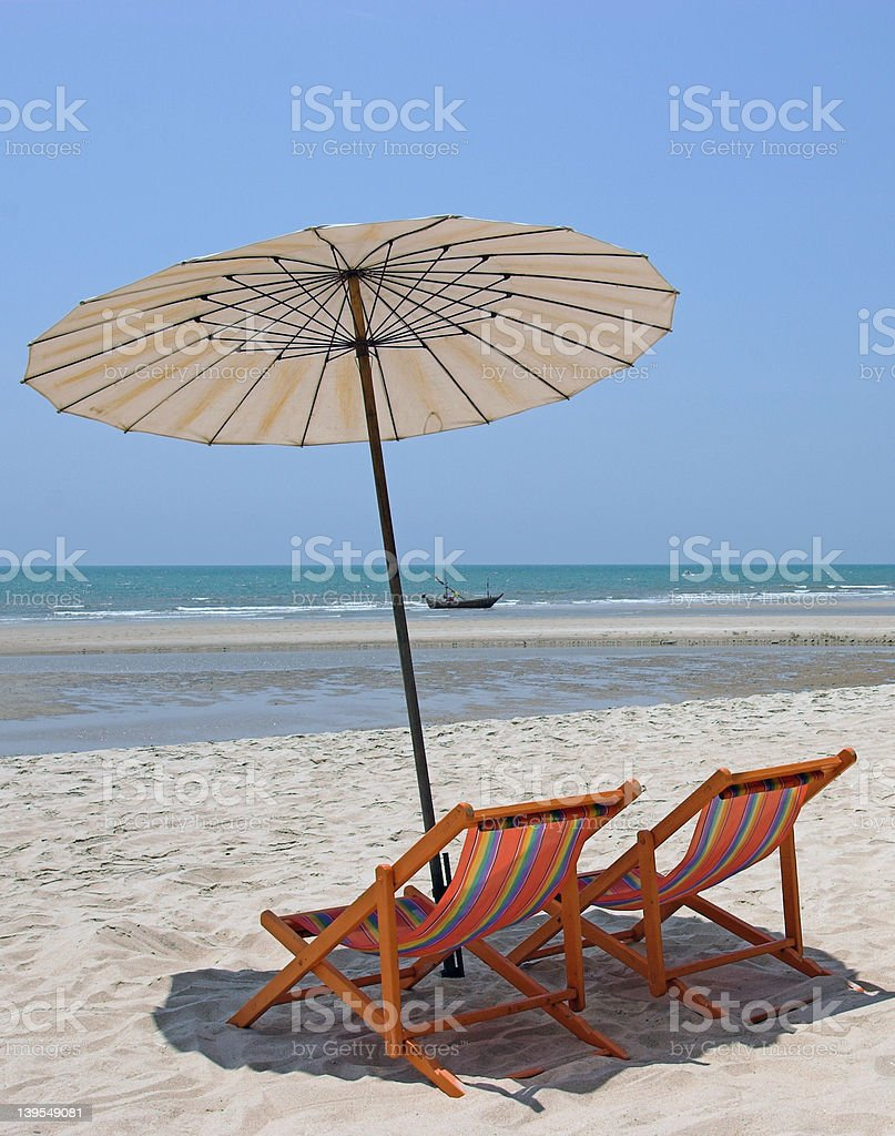 Holiday and beach 2 stock photo