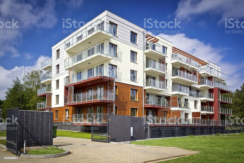 Holiday apartment house stock photo