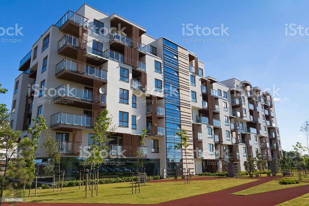 Holiday apartment house royalty-free stock photo