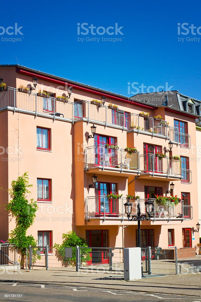 Holiday apartment houses royalty-free stock photo