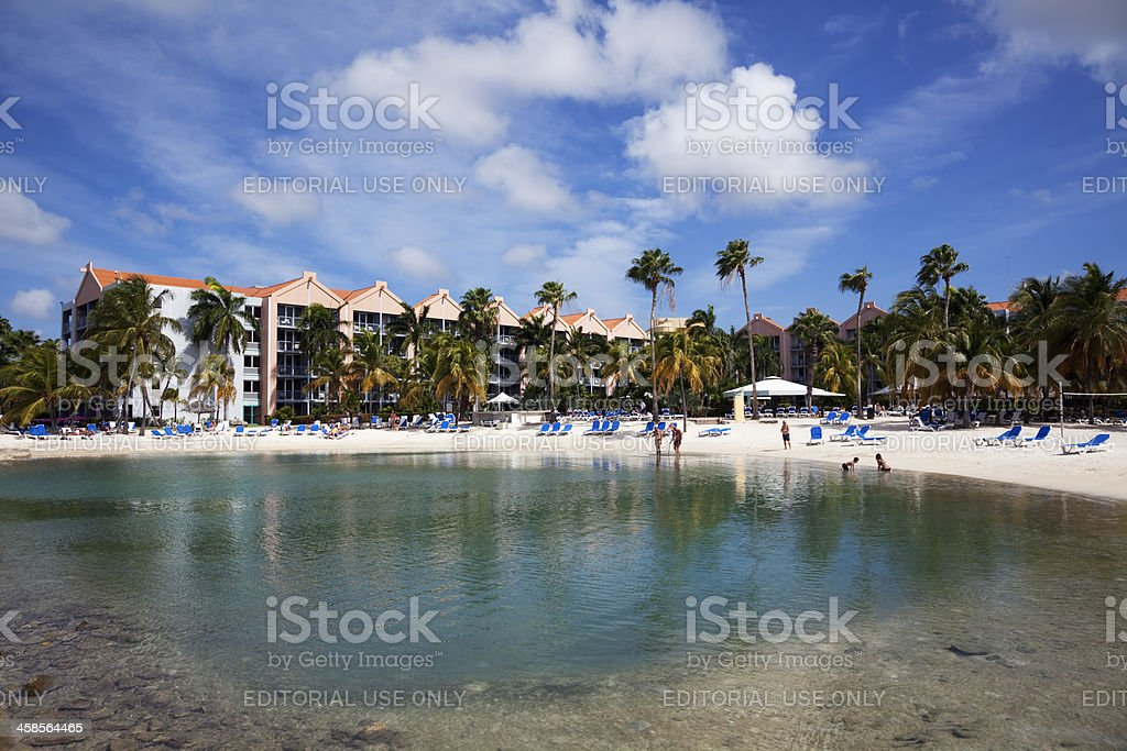 Holiday apartments with pool stock photo