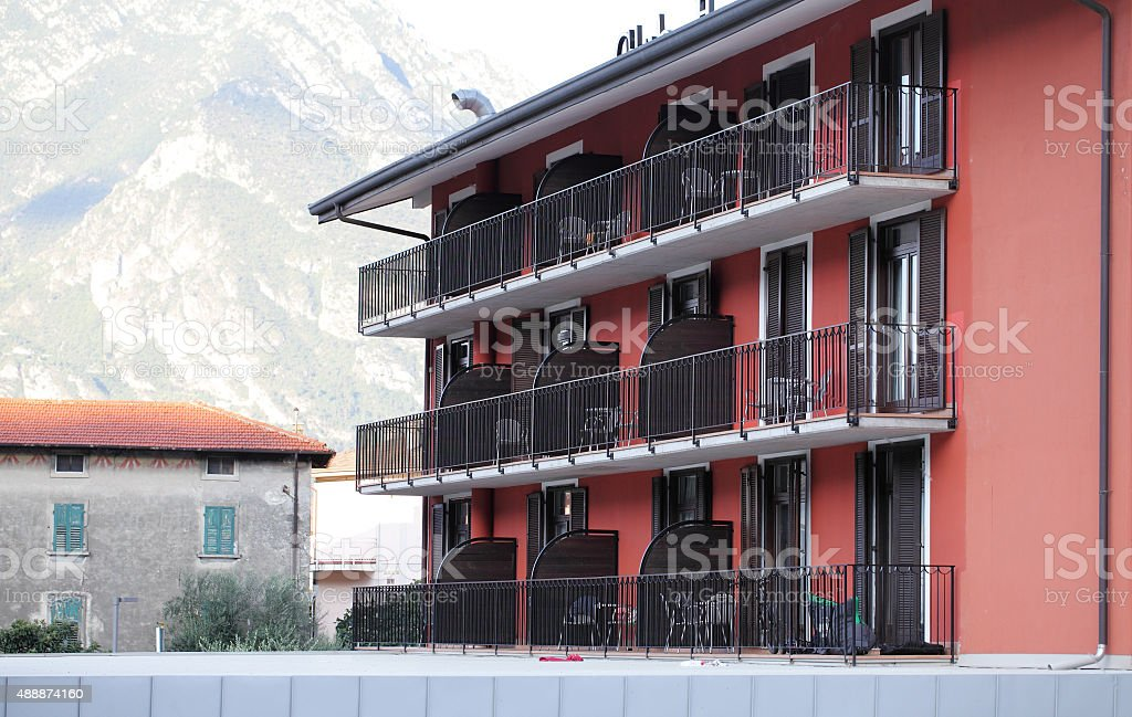 holiday apartments,Lake Garda,Italy stock photo