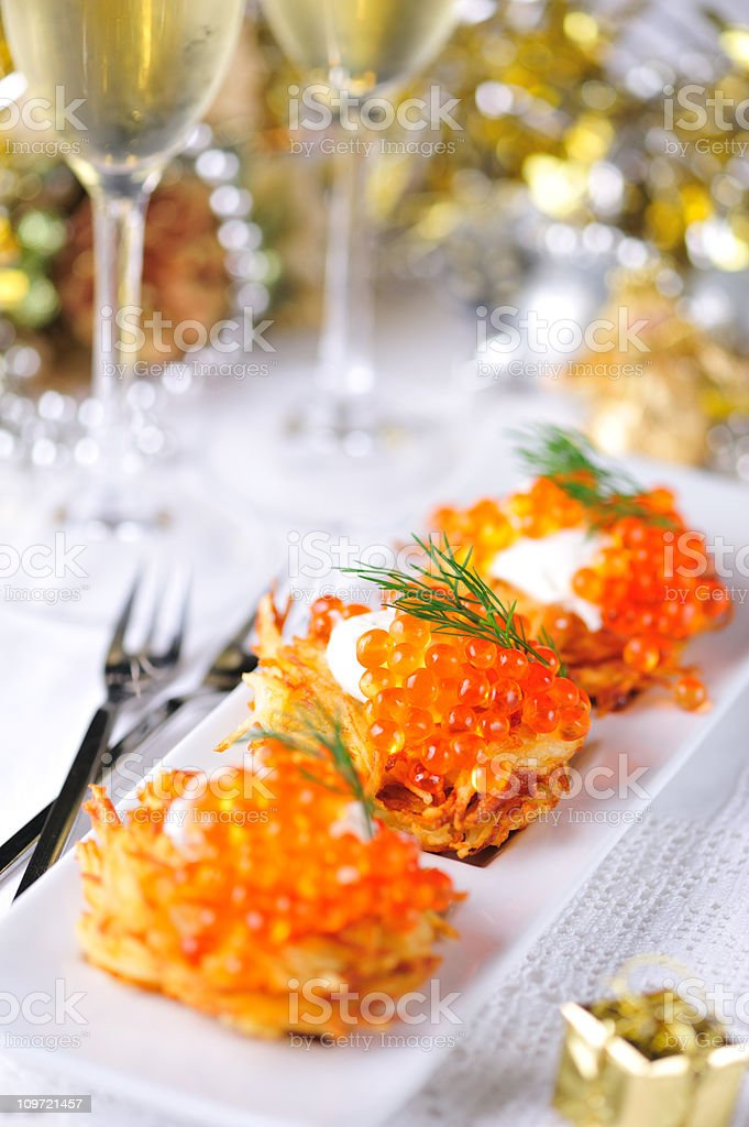 Holiday Appetizer stock photo