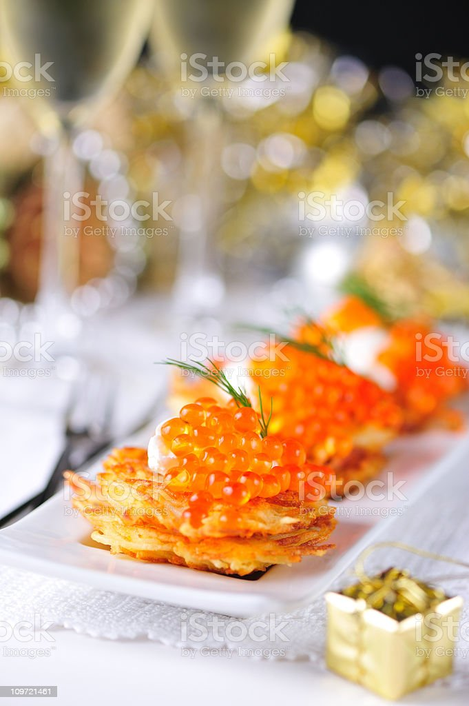 Holiday Appetizers stock photo